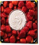 Round Tray Of Strawberries  Acrylic Print