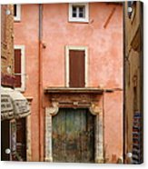 Roussillon Painted Door Acrylic Print