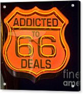 Route 66 Addicted Acrylic Print