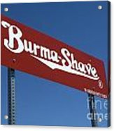 Route 66 Burma Shave Acrylic Print