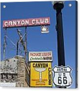 Route 66 Canyon Club Acrylic Print