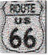 Route 66 Coke Ford Mustang Mosaic Acrylic Print