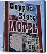 Route 66 Copper State Motel Acrylic Print