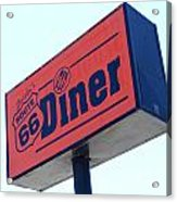 Route 66 Diner Sign Acrylic Print