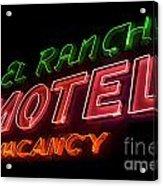 Route 66 El Rancho Acrylic Print