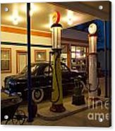 Route 66 Garage At Night Acrylic Print