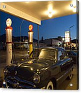 Route 66 Garage Scene Acrylic Print