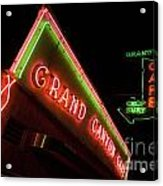 Route 66 Grand Canyon Neon Acrylic Print