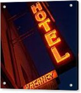 Route 66 Hotel Williams Acrylic Print