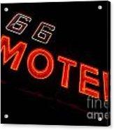 Route 66 Motel Neon Acrylic Print