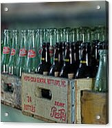 Route 66 Odell Il Gas Station Cases Of Pop Bottles Digital Art Acrylic Print