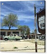 Route 66 Still Open Acrylic Print