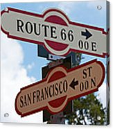 Route 66 Street Sign Acrylic Print