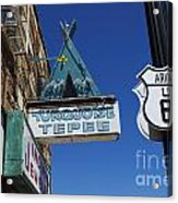 Route 66 Turquoise Tepee Acrylic Print