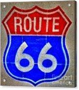 Route 66 Wall Art-2 Acrylic Print