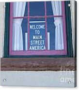 Route 66 Welcome Sign Acrylic Print