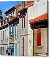 Row Of Houses In Arles Provence Acrylic Print