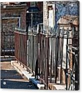 Row Of Tombs St Louis One Cemetery New Orleans Acrylic Print