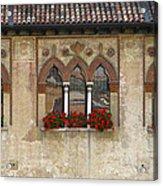 Row Of Windows In Treviso Italy Acrylic Print