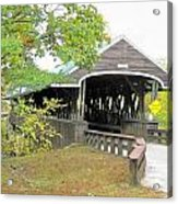 Rowell Covered Bridge Acrylic Print