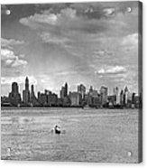 Rowing To Manhattan Acrylic Print