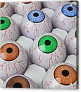 Rows Of Eyeballs Acrylic Print by Garry Gay
