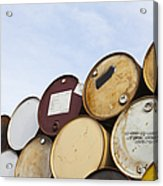 Rows Of Stacked Barrels Acrylic Print