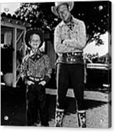 Roy Dusty Rogers Jr., And His Father Acrylic Print by Everett