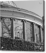 Royal Conservatory In Brussels - Black And White Acrylic Print