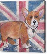 Royal Corgi Acrylic Print