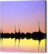 Royal Docks Cranes  Art Acrylic Print