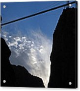 Royal Gorge Bridge And Sky Acrylic Print