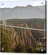 Royal Gorge Bridge Colorado - The World's Highest Suspension Bridge Acrylic Print by Christine Till