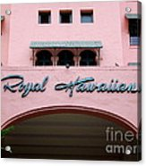 Royal Hawaiian Hotel Entrance Arch Acrylic Print