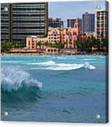 Royal Hawaiian Hotel Acrylic Print