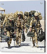 Royal Marines Haul Their Equipment Acrylic Print