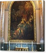 Royal Naval Chapel Interior Acrylic Print by Anna Villarreal Garbis