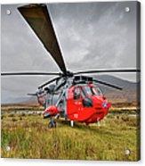 Royal Navy Sar Sea King Xz920 Glencoe Acrylic Print