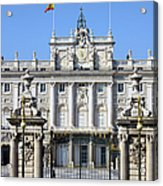 Royal Palace In Madrid Acrylic Print