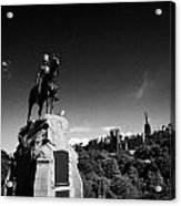 Royal Scots Greys Boer War Monument In Princes Street Gardens Edinburgh Scotland Uk United Kingdom Acrylic Print