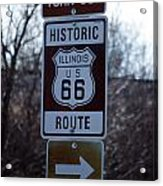 Rt 66 Il Turn Out Signage Acrylic Print