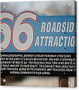 Rt 66 Towanda Il Parkway Signage Acrylic Print