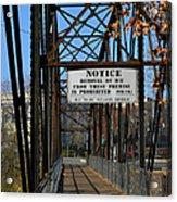 Rube Nelson Bridge 2 Acrylic Print