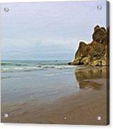 Ruby Beach Seastack Reflection Acrylic Print