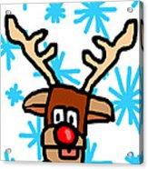 Rudolph's Portrait Acrylic Print by Jera Sky