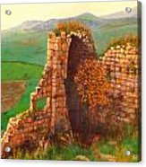 Ruined Castle View Acrylic Print
