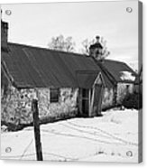 Ruined Cottage In Snow Acrylic Print