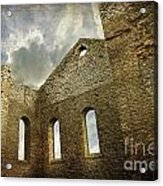 Ruins Of A Church In Ontario Acrylic Print by Sandra Cunningham