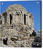 Ruins Of Byzantine Basilica Alanya Castle Turkey Acrylic Print