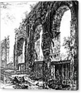 Ruins Of Roman Aqueduct, 18th Century Acrylic Print by Photo Researchers